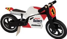 Kiddimoto Wayne Rainey Superbike Wooden balance bike no pedals bicycle trainer